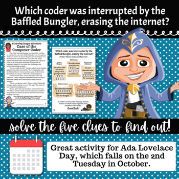4th Grade October Math Adventure- Case of the Computer Coder