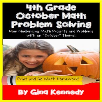 4th Grade October Math Projects, Problem-Solving