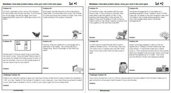Daily Problem Solving for 4th Grade: October Word Problems (Multi-step)