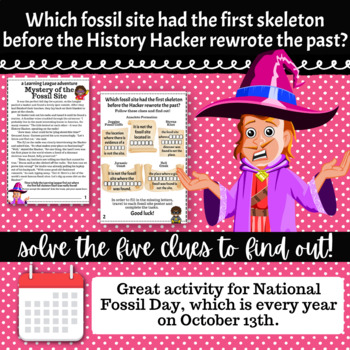 4th Grade October Reading Adventure- Mystery of the Fossil Site