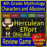 4th Grade Ohio AIR Test Prep Greek Mythology Allusions Review Game