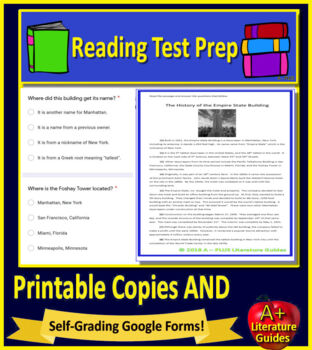 4th Grade Ohio AIR Test Prep Practice Tests for English Language Arts