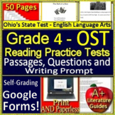 4th Grade Ohio AIR Test Prep Practice Tests for ELA - Print AND Paperless!