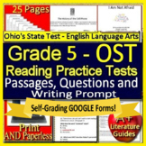 5th Grade Ohio AIR Test Prep Practice Tests for ELA - Print AND Paperless!