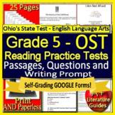 5th Grade Ohio State Test Prep ELA - SELF-GRADING GOOGLE FORMS - OST Ohio AIR