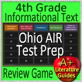 4th Grade Ohio AIR Test Prep Reading Informational Text Non-Fiction Review Game