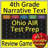 4th Grade Ohio AIR Test Prep Reading Literature and Narrative Review Game