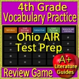 4th Grade Ohio AIR Test Prep Vocabulary + Greek Mythology Allusions Review Game