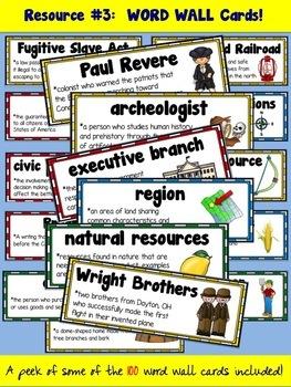 4th Grade Ohio Social Studies ESSENTIAL RESOURCE bundle!