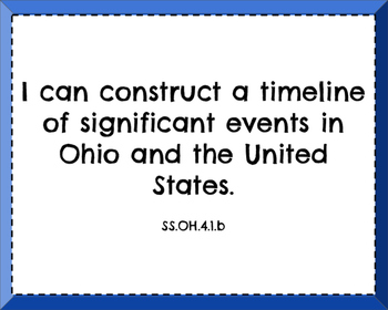 Ohio Social Studies Learning Targets