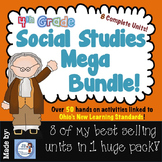 4th Grade Ohio Social Studies Super bundle of Best Selling Units