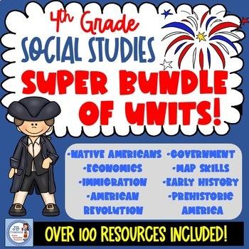 4th Grade Ohio Social Studies Super bundle of Best Selling Units