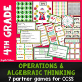 4th Grade Operations & Algebraic Thinking: 7 Math Partner Games for Common Core