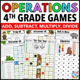 4th Grade Multiplication, Division, Addition, and Subtraction Games