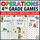 4th Grade Math Centers: 4th Grade Operations {4.OA.1, 4.NBT.4, 4.NBT.5, 4.NBT.6}