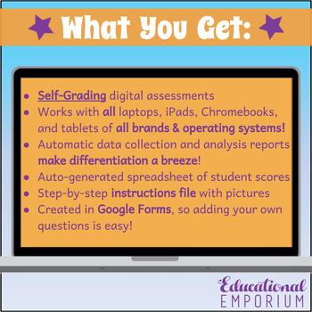 4th Grade Operations and Algebraic Thinking Google Task Cards Domain Bundle