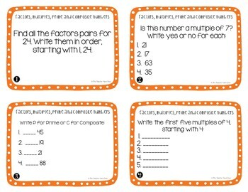Operations and Algebraic Thinking Task Card Bundle for 4th Grade