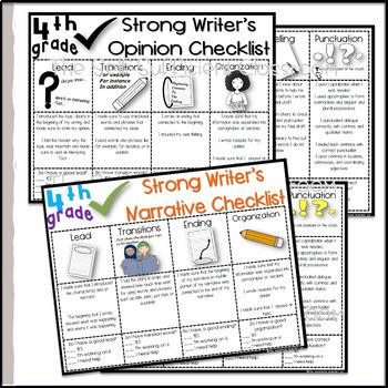 4th Grade Opinion, Narrative, & Informational Writing Rubrics
