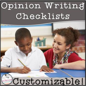 4th Grade Opinion Writing Checklist~ EDITABLE