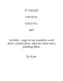 4th Grade Opinion Writing Kit