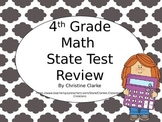 4th Grade Math State Test Prep Review Powerpoint