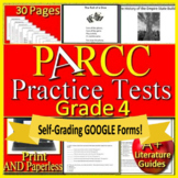 4th Grade PARCC Test Prep English Language Arts Literacy Practice Tests