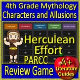 4th Grade PARCC Test Prep Greek Mythology Allusions Review Game