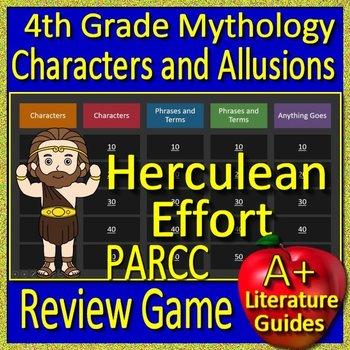 4th Grade PARCC Test Prep Greek Mythology Allusions Review Game