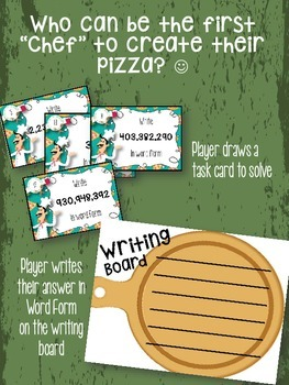 4th Grade PLACE VALUE Pizza Factory - Writing in WORD FORM to the billions
