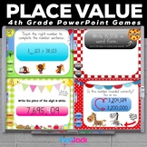 4th Grade PLACE VALUE PowerPoint Games Bundle