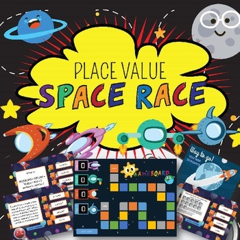 4th Grade PLACE VALUE SPACE RACE - POWERPOINT GAME