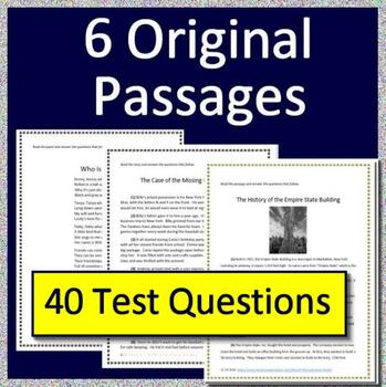 4th Grade PSSA Reading and Math Bundle! Pennsylvania System of School Assessment