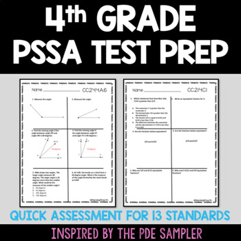 Pssa 4th Grade Worksheets Teaching Resources TpT