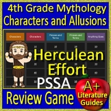4th Grade PSSA Test Prep Greek Mythology Allusions Review Game Pennsylvania