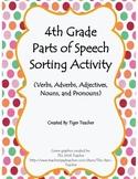 4th Grade Parts of Speech Sorting Activity