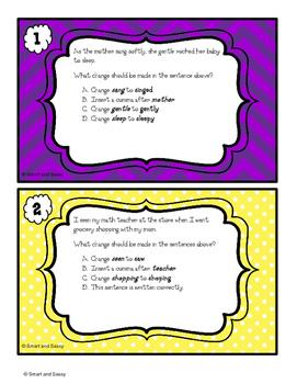 4th Grade Parts of Speech Task Cards TEKS/ STAAR Aligned QR Codes