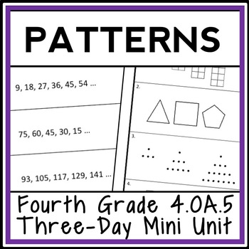4th grade patterns 3 day mini unit number patterns. Black Bedroom Furniture Sets. Home Design Ideas
