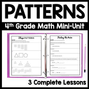 4th grade patterns 3 day mini unit number patterns. Black Bedroom Furniture Sets. Home Design Ideas