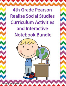 4th Grade Pearson Social Studies Activities and Interactive Notebook Bundle