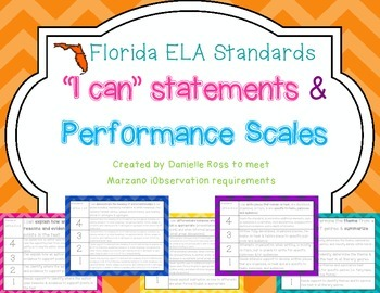 4th Grade Performance Scales-FL ELA Standards