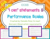 4th Grade Performance Scales-CCSS ELA Standards