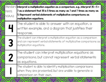 4th Grade Performance Scales-FL Math Standards