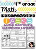 4th Grade Performance Tasks 4.NBT.4, 4.NBT.5, 4.NBT.6 Math