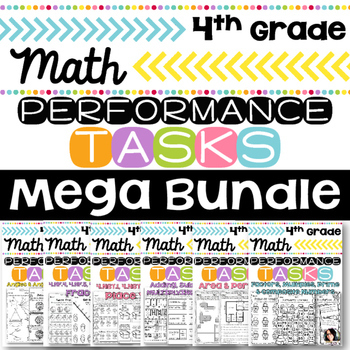 4th Grade Performance Tasks MEGA BUNDLE FOR ALL YEAR Math