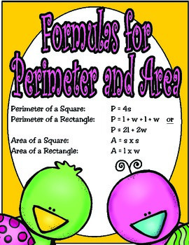4th Grade Perimeter and Area (TEKS 4.5D)