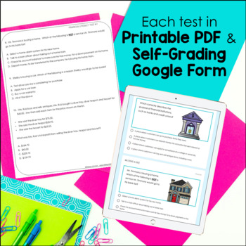 4th Grade Personal Financial Literacy TEKS Formative Assessments