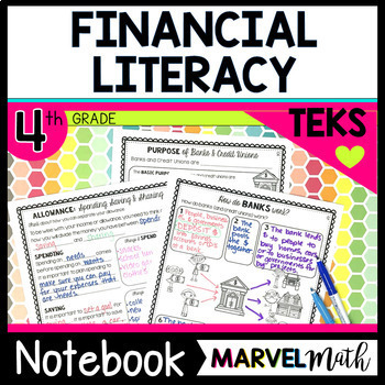 Distance Learning 4th Grade Personal Financial Literacy TEKS Unit & Bundle