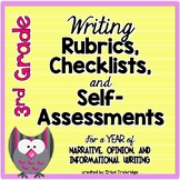 3rd Grade Common Core Writing Rubrics & Checklists for the ENTIRE YEAR!