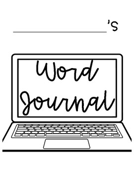4th Grade Personal Word Journal with No Excuse Words and Topic Word Lists