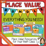 4th Grade Place Value BUNDLE Some Digital Options Comparin